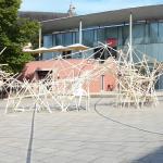 Holzkonstruktion der Gewinner des Gunter-Ullrich-Preises 2020 auf dem Theaterplatz 2018 © Sabina Grzywacz