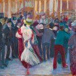 Ida Gerhardi, Tanzbild X (Tanzszene bei Bullier, Paris), 1905