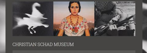 Screenshot der Homepage zum Christian Schad Museum